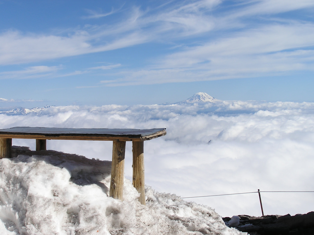 Above the clouds from Rainier's Camp Muir.