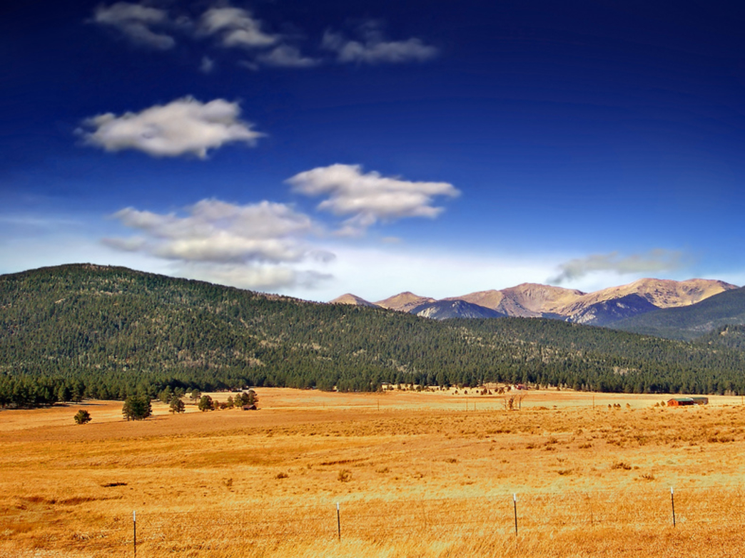 The Sangre de Cristo Mountains in northern New Mexico, near Taos