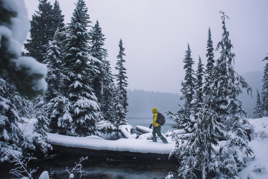 Snowshoeing can be a peaceful, solitary adventure.     Jeff Bartlett