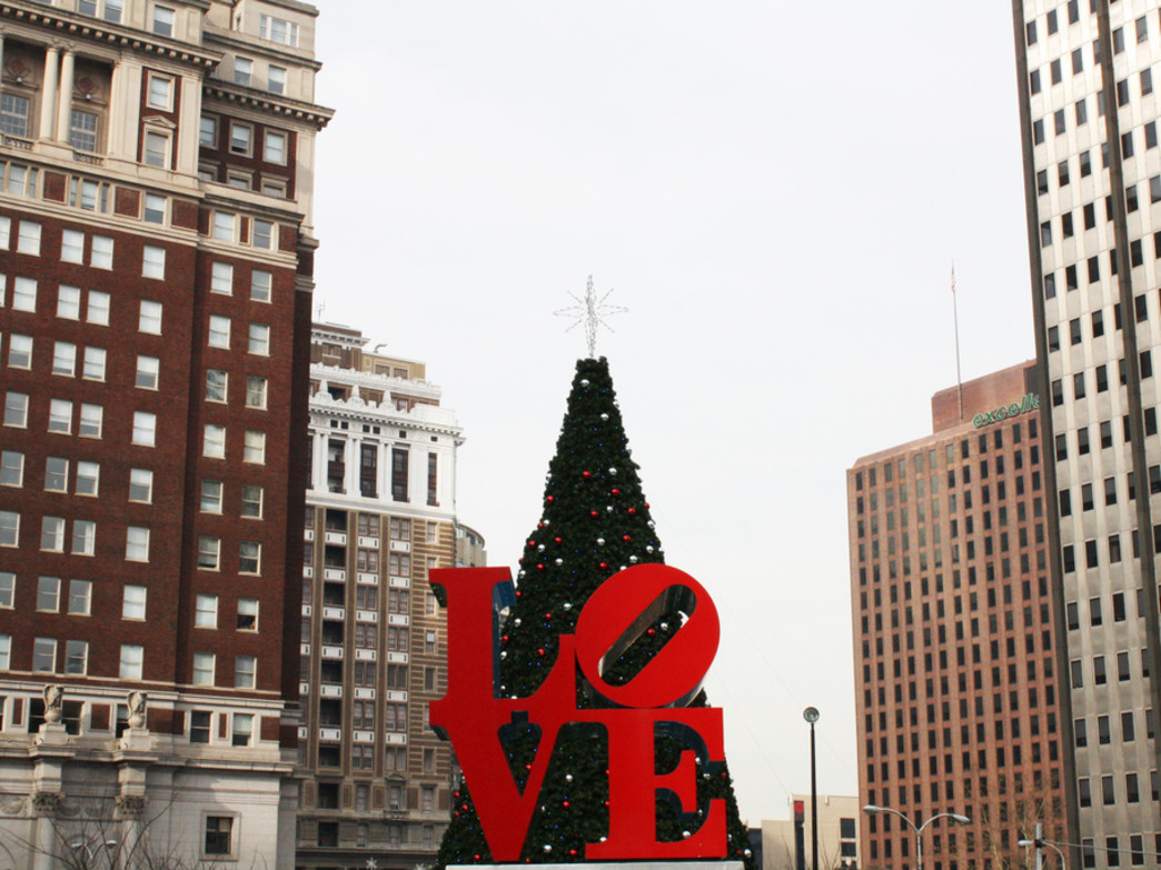 Love Park gets a Christmas makeover each holiday season.