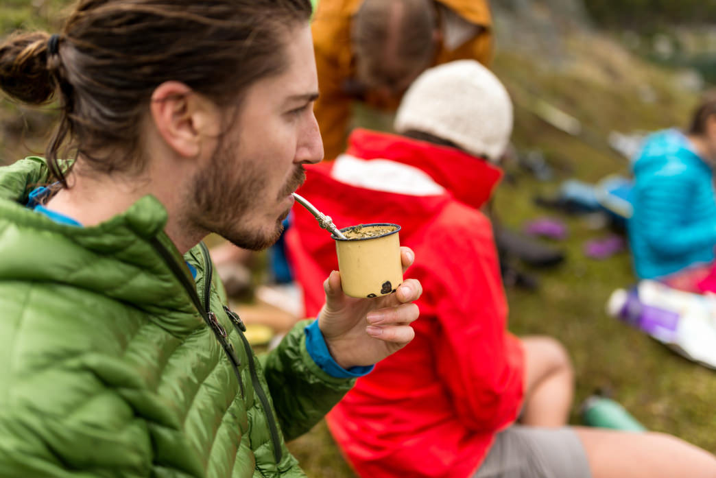 Sipping mate with friends in Patagonia.