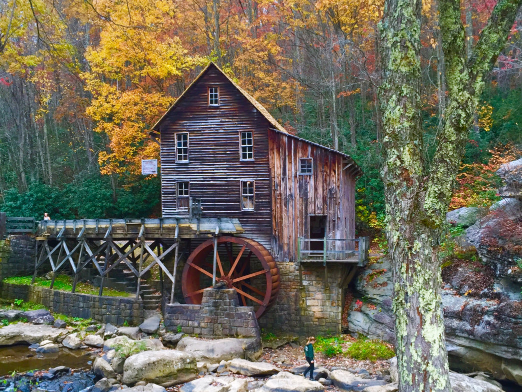 Glade Creek Grist Mill at Babcock State Park.