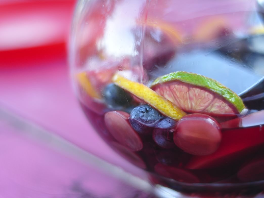 There is nothing more refreshing than a cold glass of sangria after a day on the trails.