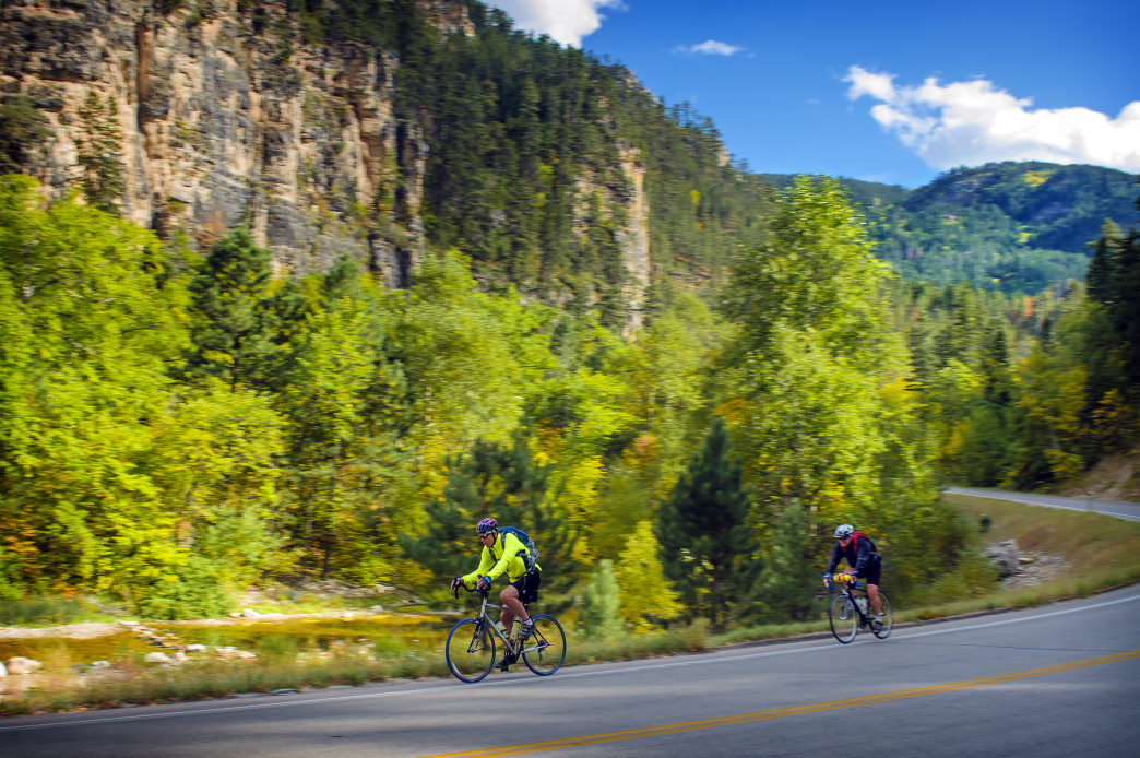Spearfish Canyon National Scenic Byway provides access to one of the most beautiful sections of the Black Hills.