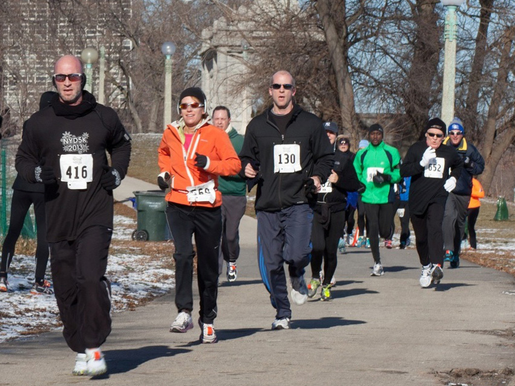 The New Year's Day 5K has become a Chicago tradition on January 1.