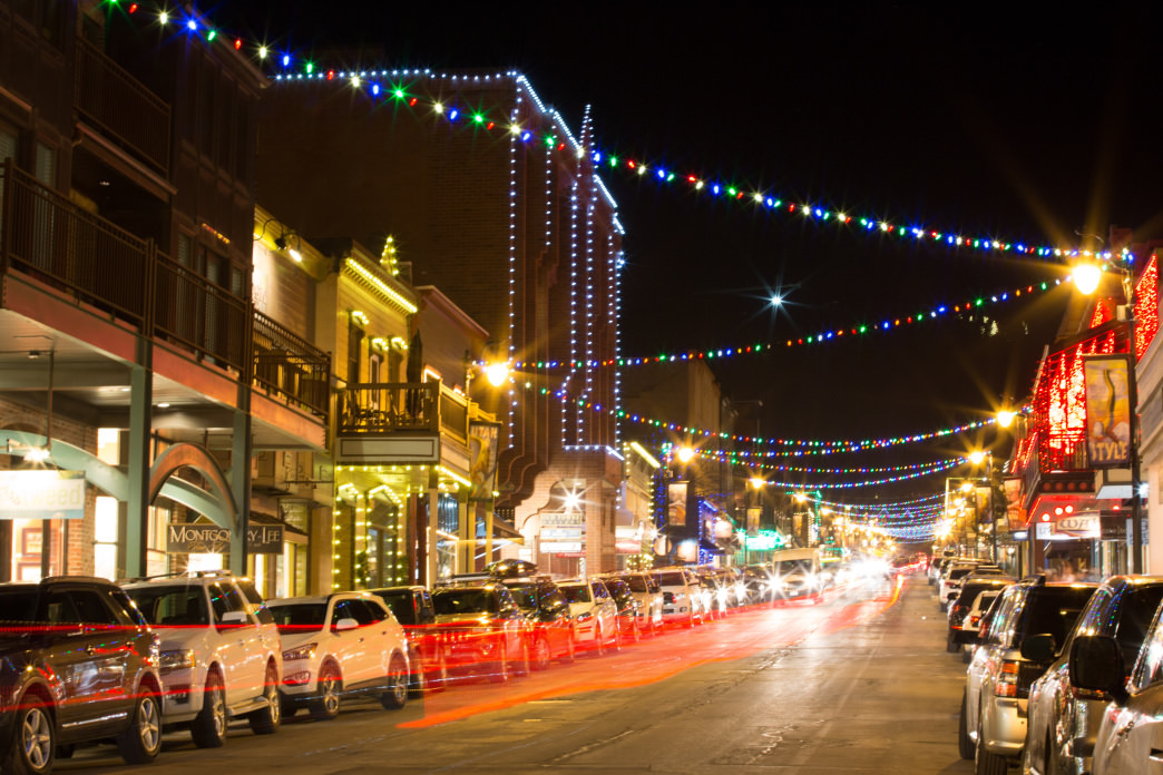 Enjoy Historic Main Street in Park City at night.