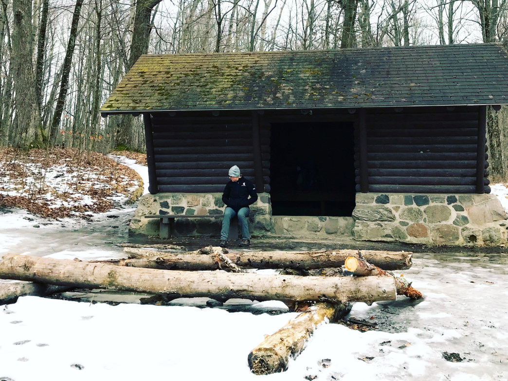 Huts like this one, the Dundee Shelter #3, along Wisconsin's Ice Age Trail provide excellent shelter during cold-weather months.