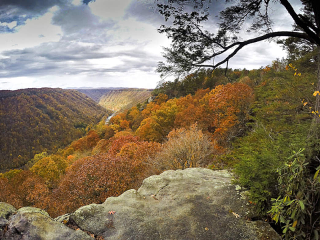 The gorgeous view from Beauty Mountain in the fall.