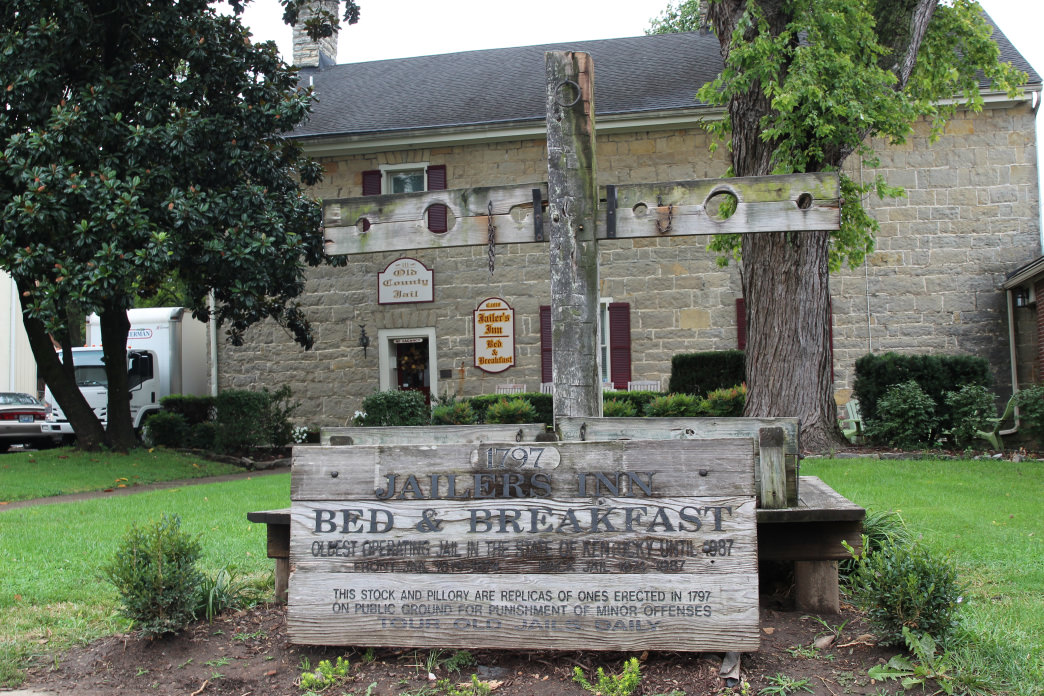 Spend the night in an old jailhouse that's now a lovely bed and breakfast.
