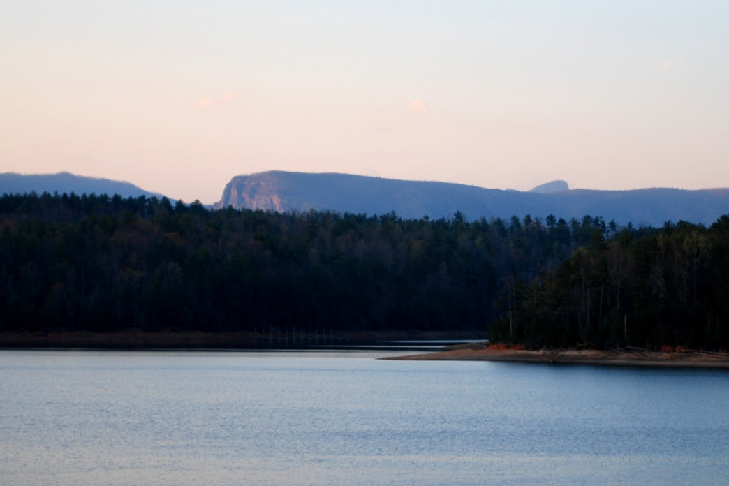 Lake James State Park is framed by the oddly shaped peaks that permeate this part of North Carolina.