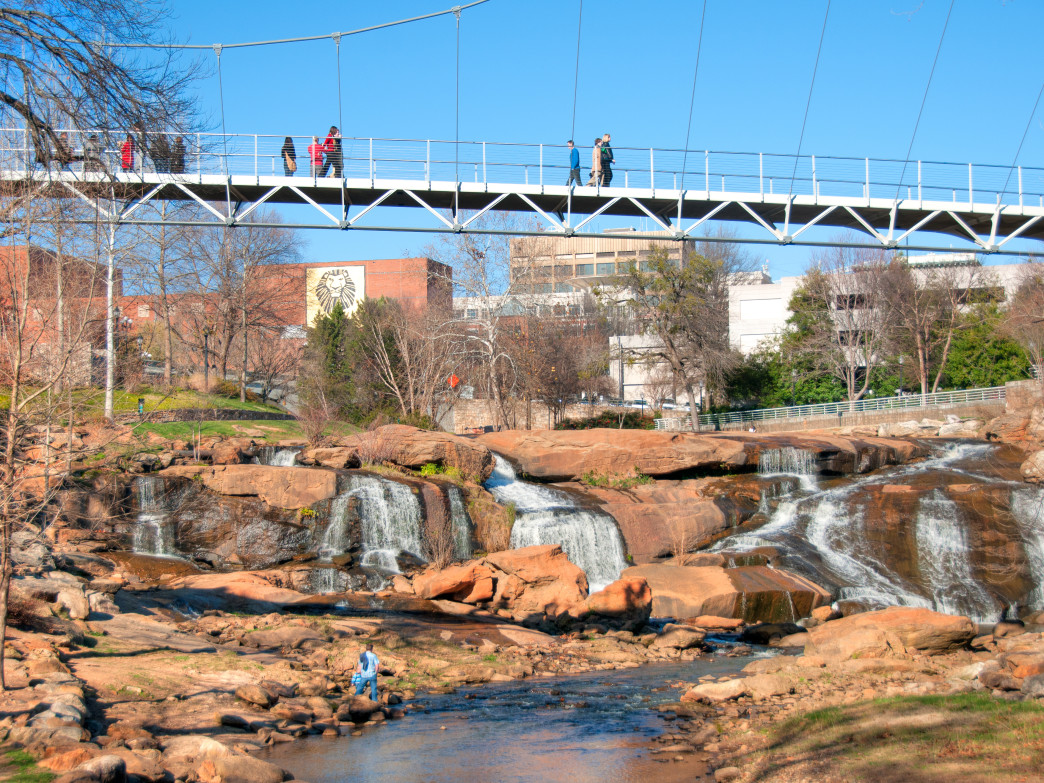 Greensville's Swamp Rabbit Trail is just one of many great bike trails in the Southeast.
