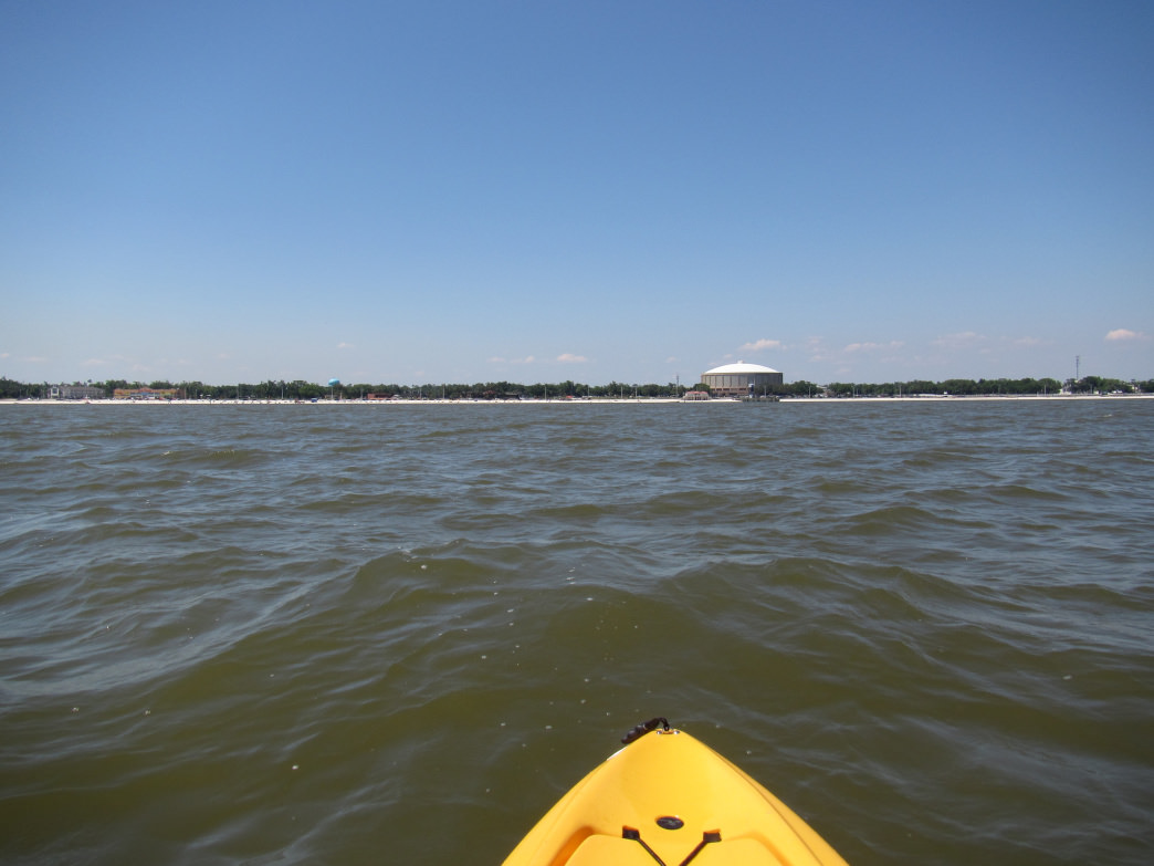 Paddling on Mississippi's Gulf Coast.