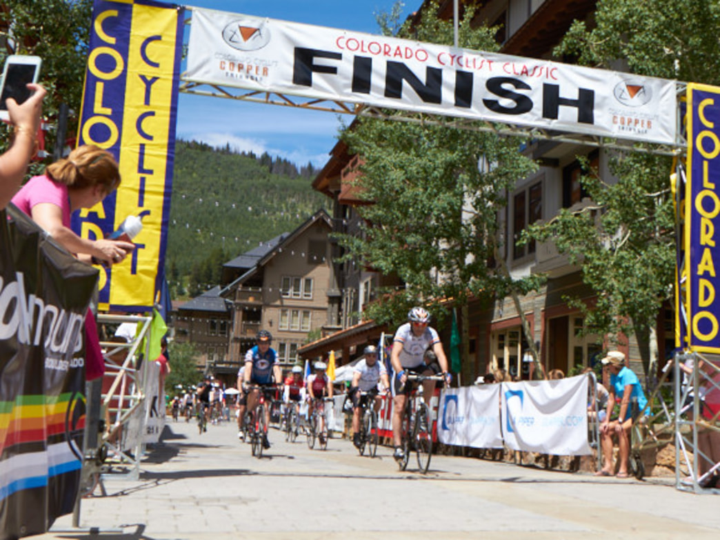Crossing the finish line in Copper after 78 miles of riding is sweet victory even though it's not a race.
