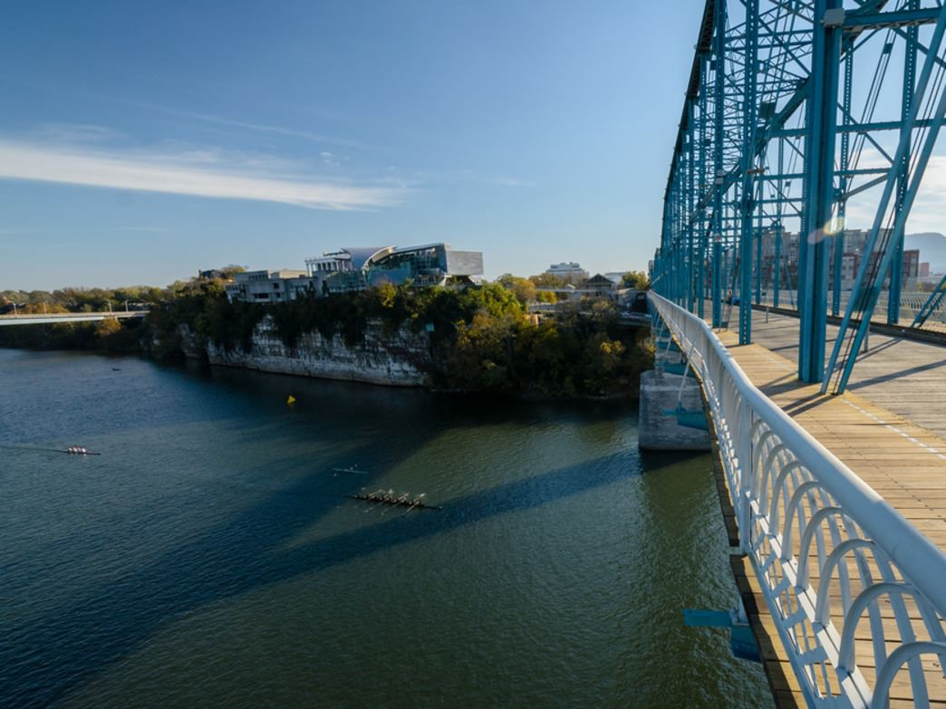 The view of the racers from Walnut Street Bridge is one of the best you can get.