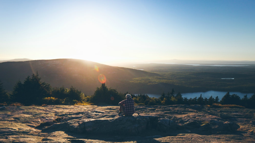 Sweeping sunset views from Acadia's Cadillac Mountain