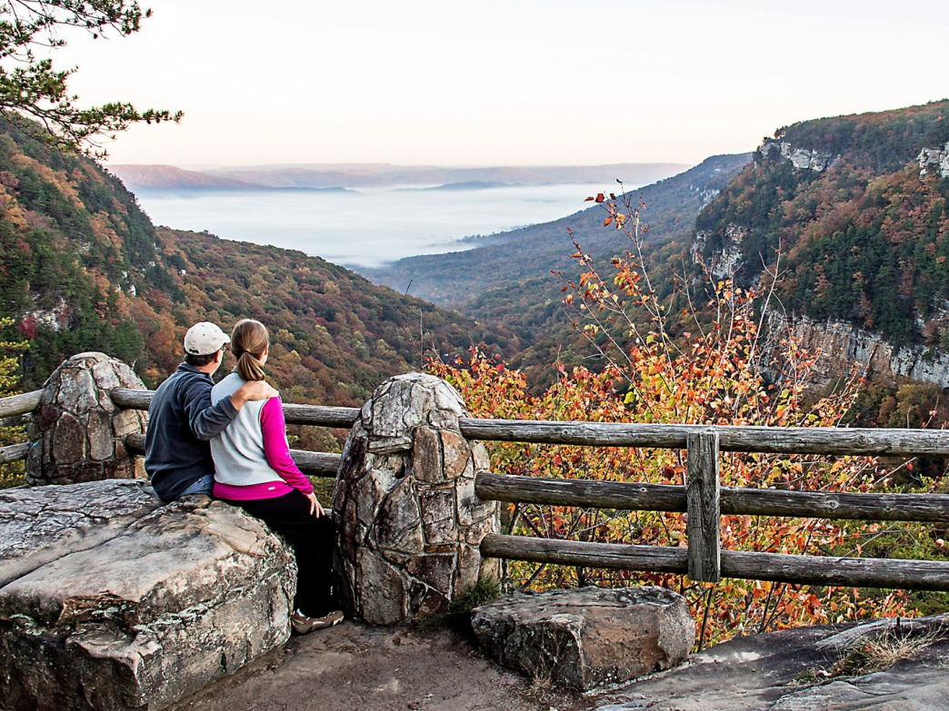 The Cloudland Canyon overlook is not to be missed in the fall.