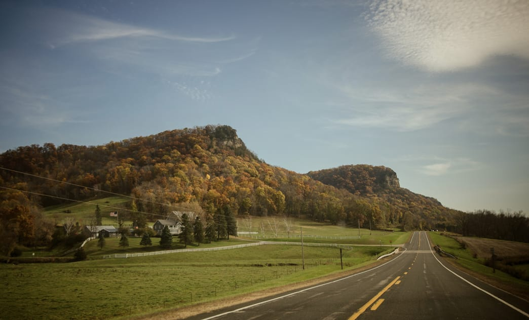 Try Wisconsin's section of The Great River Road in the fall to see some colorful foliage.