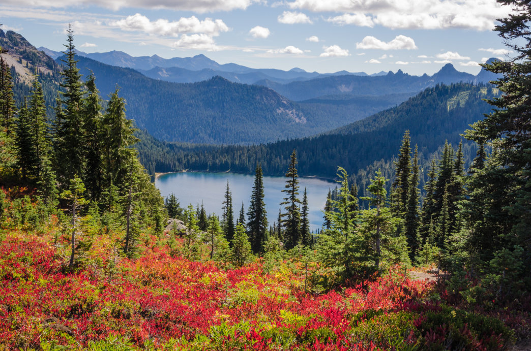 The Naches Peak Loop in Washington is part of the Pacific Crest Trail.