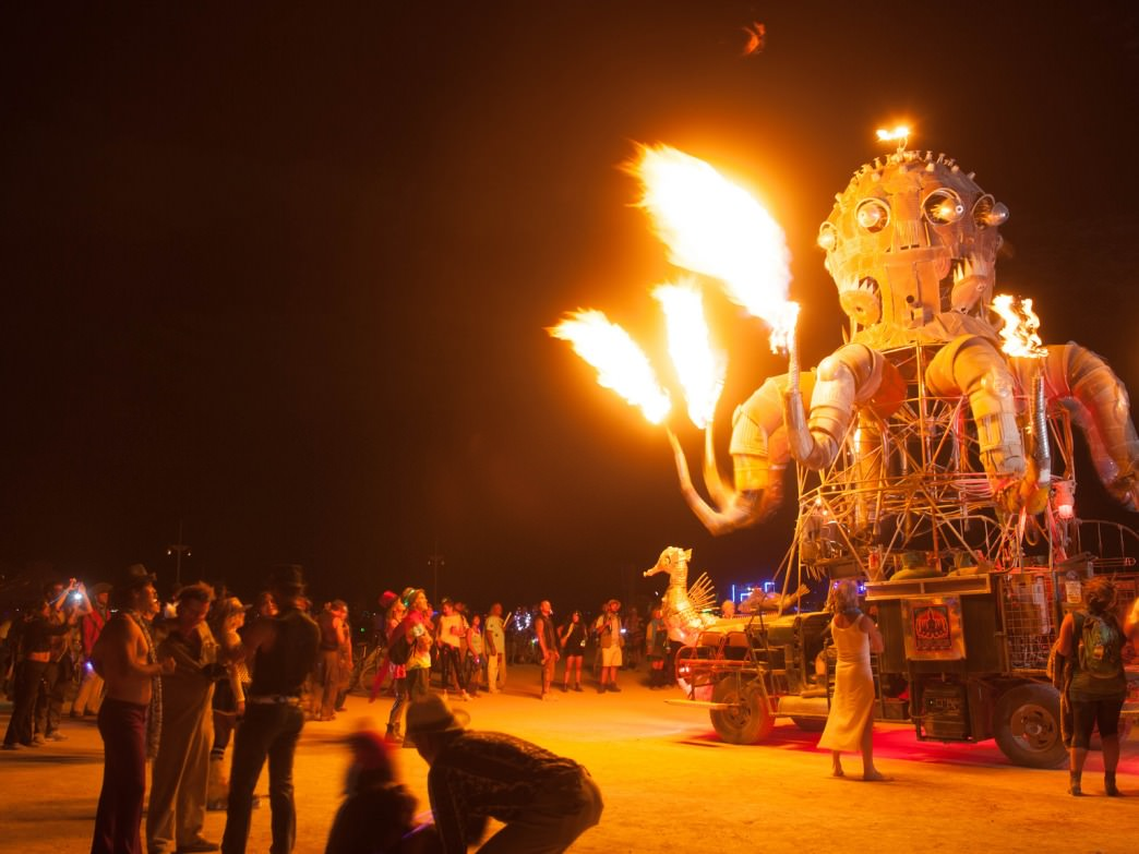 Expect lots of shiny, firey objects at Burning Man.