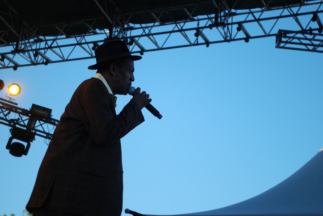 Gregory Isaacs on stage at Sierra Nevada World Music Festival.