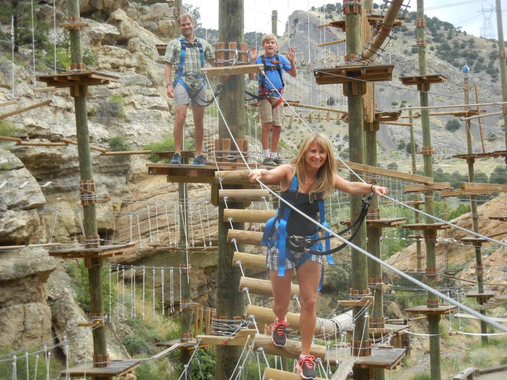 Come for Captain Zipline's zip, and then check out the aerial adventure park.