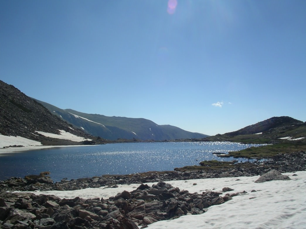 The unnamed lake at 11,575 where the Jasper wreckage sits on the west shores.     James Dziezynski
