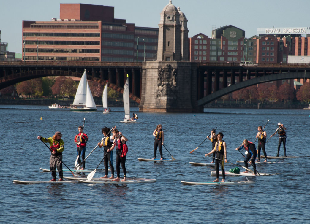 An urban paddle on the Charles River