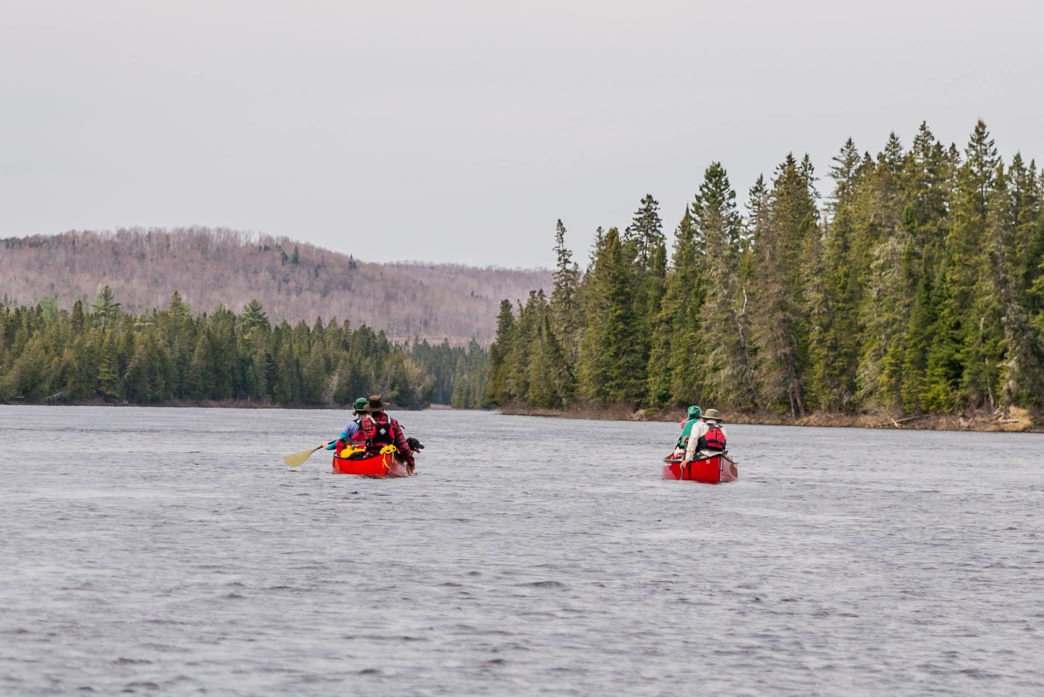 Through-paddling along the Allagash River in May 2016.
