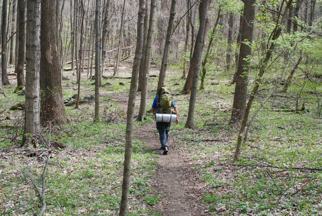 The West Virginia section of the Appalachian Trail travels between Snickers Gap and Harpers Ferry.