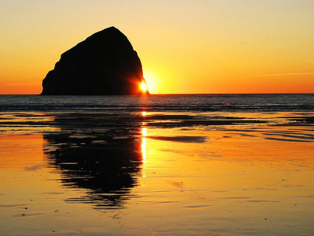 Haystack Rock in Cannon Beach is a popular destination for fans of The Goonies. It's also just a few miles from Neahkahnie Mountain, one of the most beautiful hikes on the Oregon Coast.