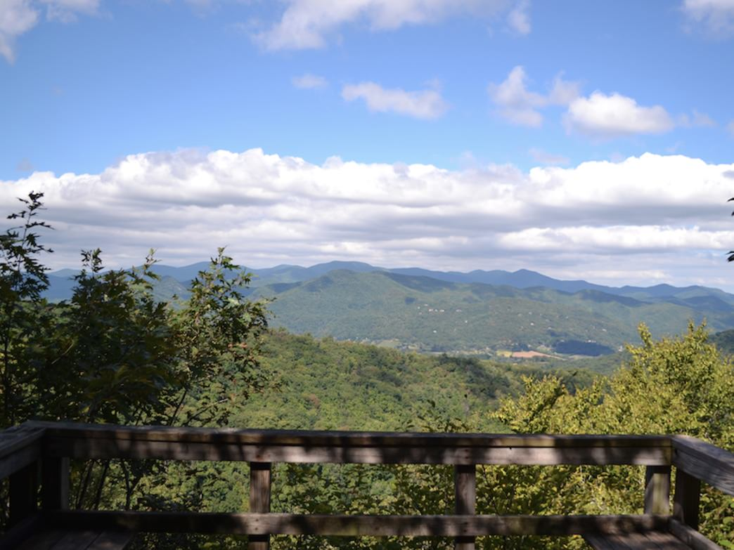 View from the summit of the Georgia Death Race.
