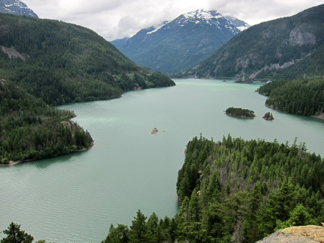 The Colonial Creek Campgrounds on Diablo Lake is a great base of operations for exploring North Cascade National Park.