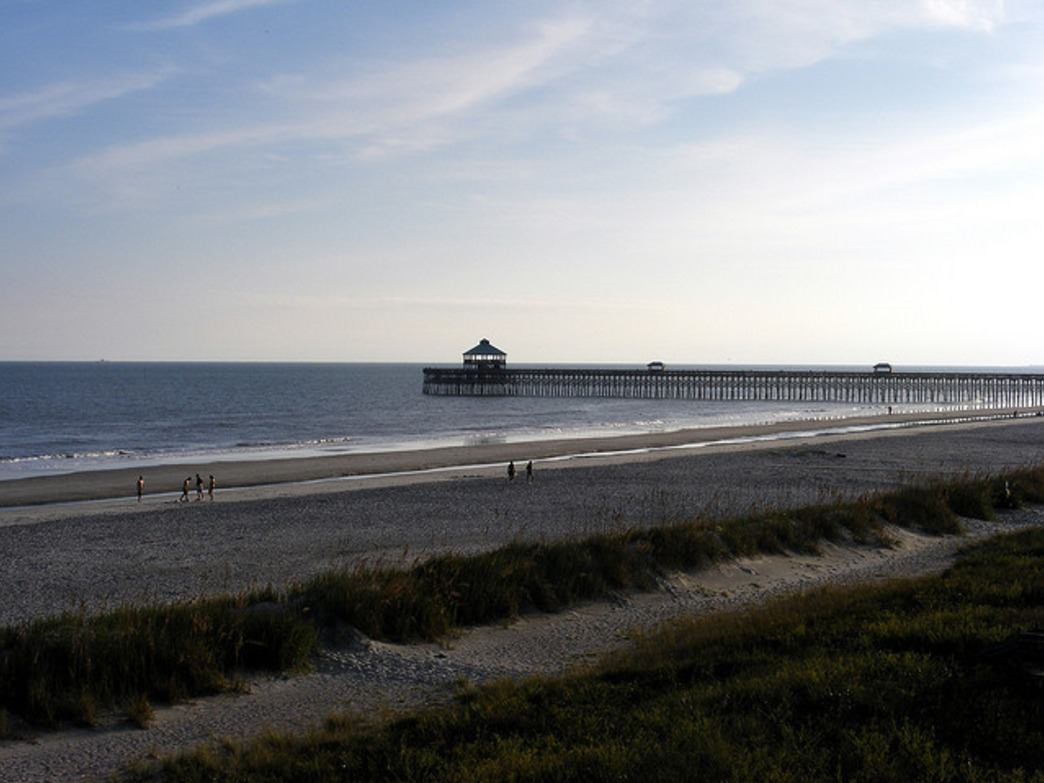 The Isle of Palms Pier is a great spot for fishing on or surfing around.