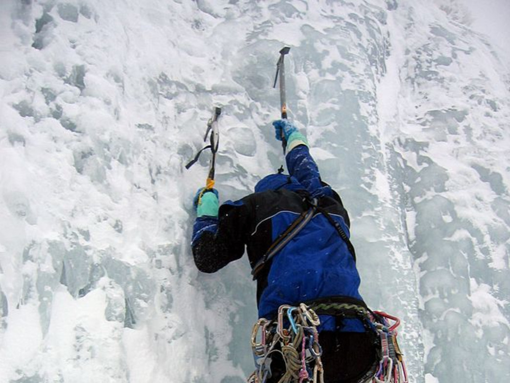 Grab your ice axes and crampons and hit the ice climbing wall this winter.