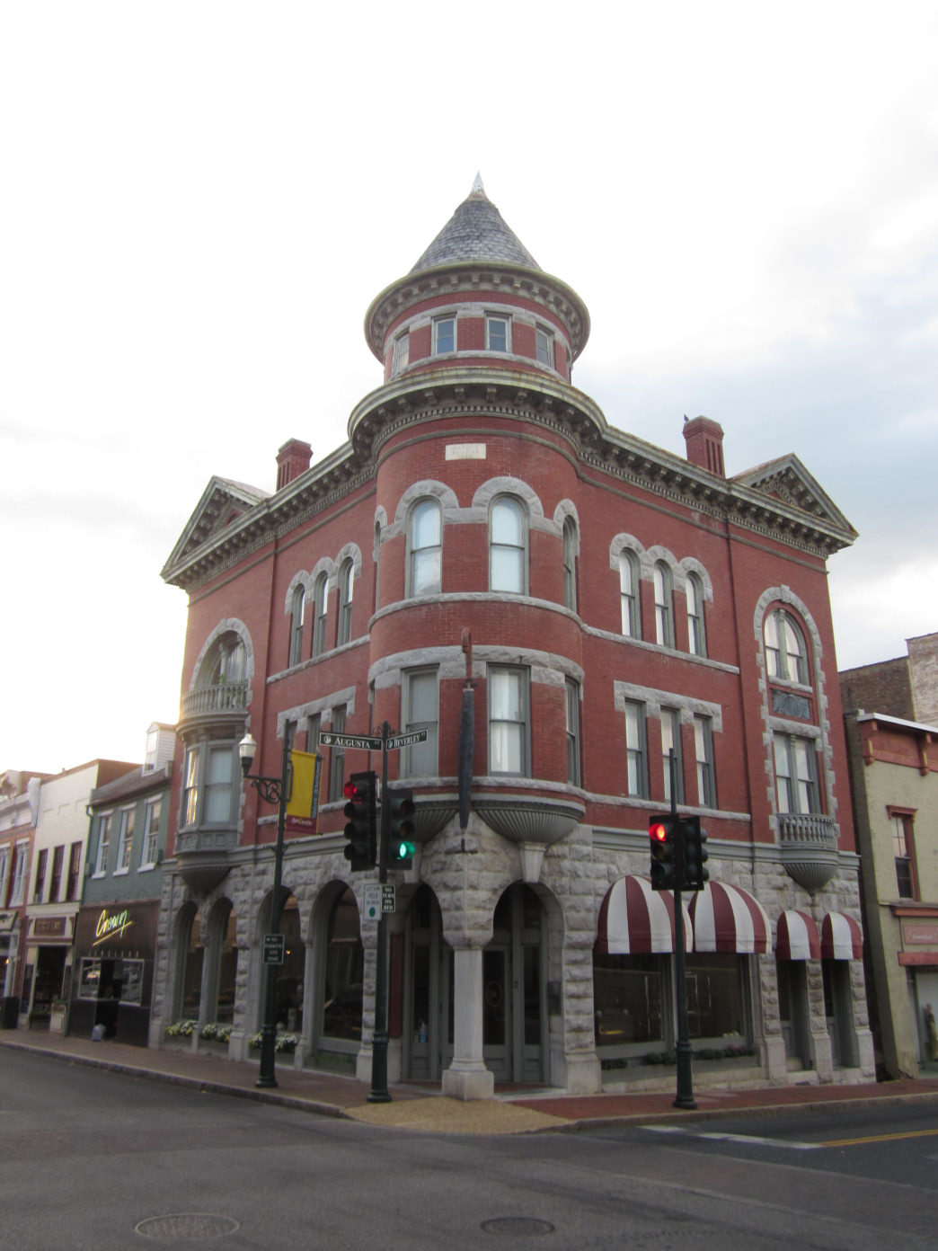 Downtown Staunton is filled with historical architecture, dating back to the 19th century.