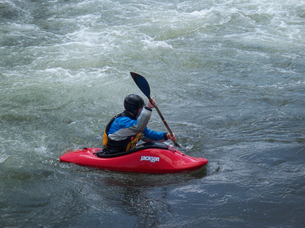A kayaker partakes in Reno Riverfest in 2013.
