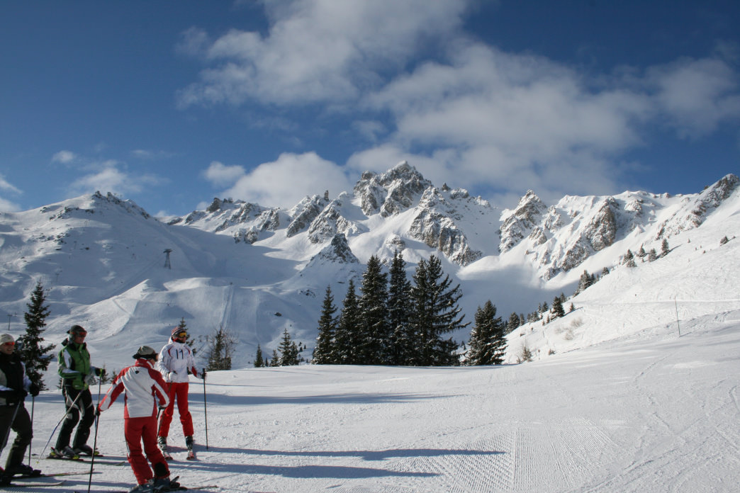 Skiers in the French Alps often take their time and focus on the overall mountain experience.