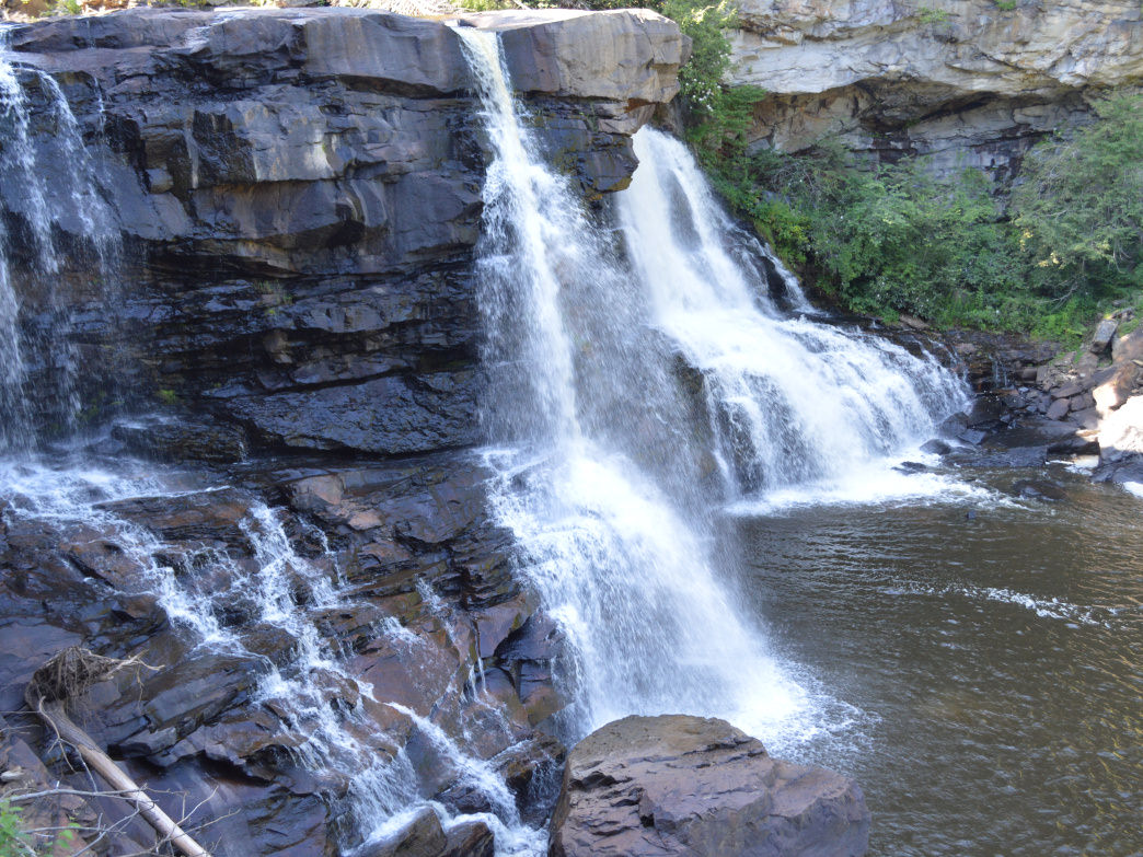 Most visitors to Blackwater Falls State Park hike to get a view the waterfalls.