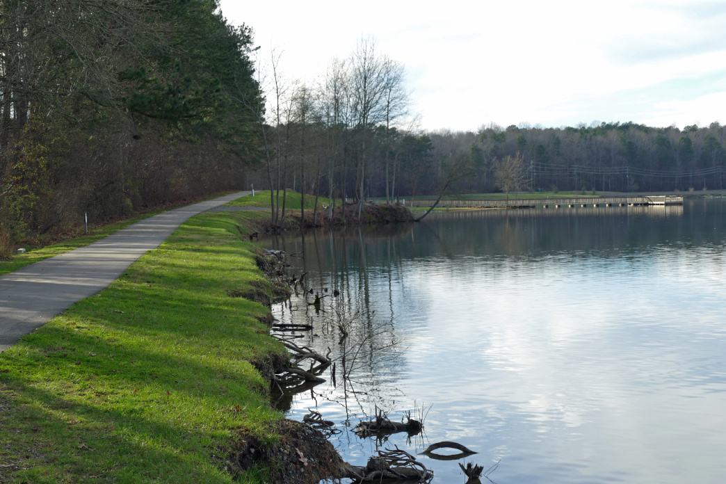 Enjoy a run or walk along the Highland Rail Trail, which connects downtown Gastonia to Rankin Lake.