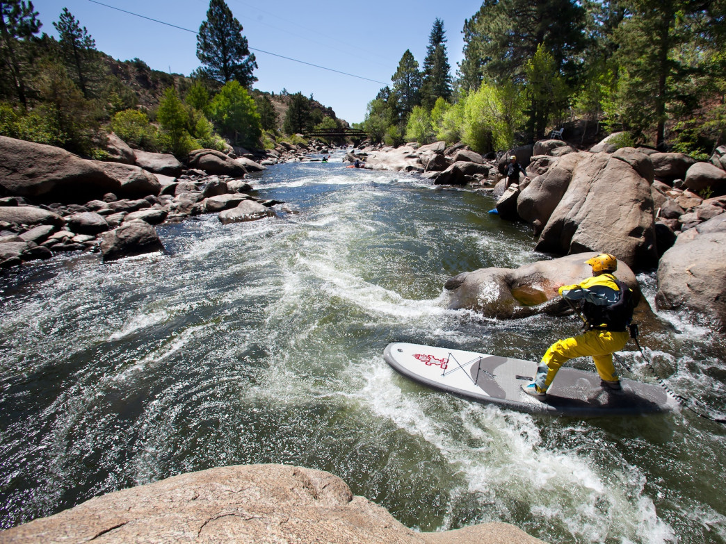 At PaddleFest, you can take a whitewater standup paddleboarding clinic taught by SUP guru Dan Gavere.