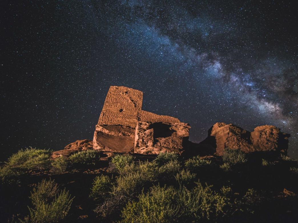 Wupatki ruins by night