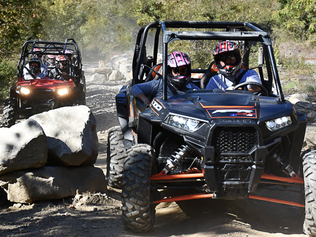 The Hatfield-McCoy Trail System is open to all kinds of off-road vehicles.