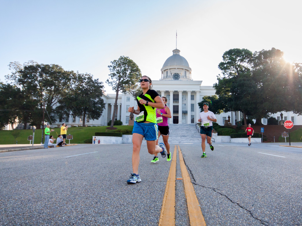 Run through historic downtown Montgomery at this year's inaugural Montgomery Marathon.