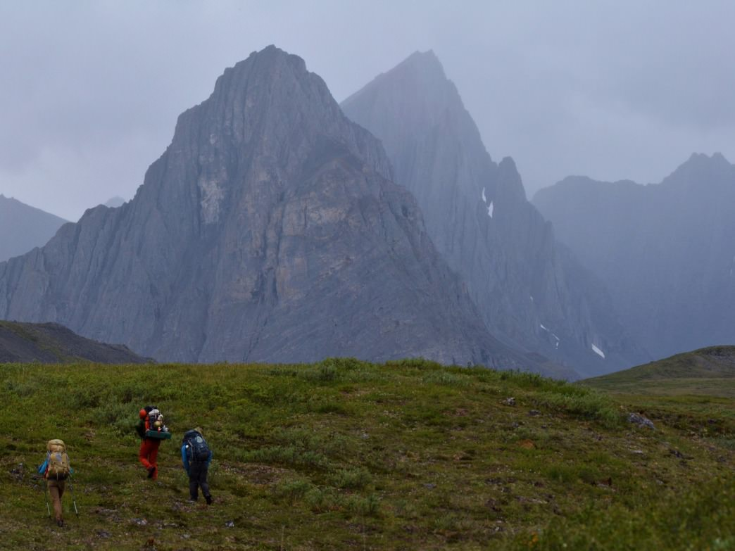 Hiking in Thunder Valley in the Gates of the Arctic National Park.