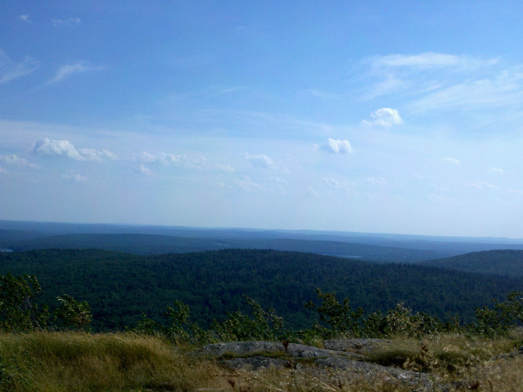 Just one part of a panoramic view from the summit.