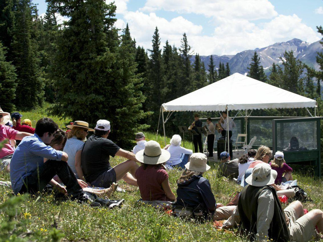 On Saturdays, Aspen Music Festival and School students perform free classical concerts at the top of Aspen Mountain.
