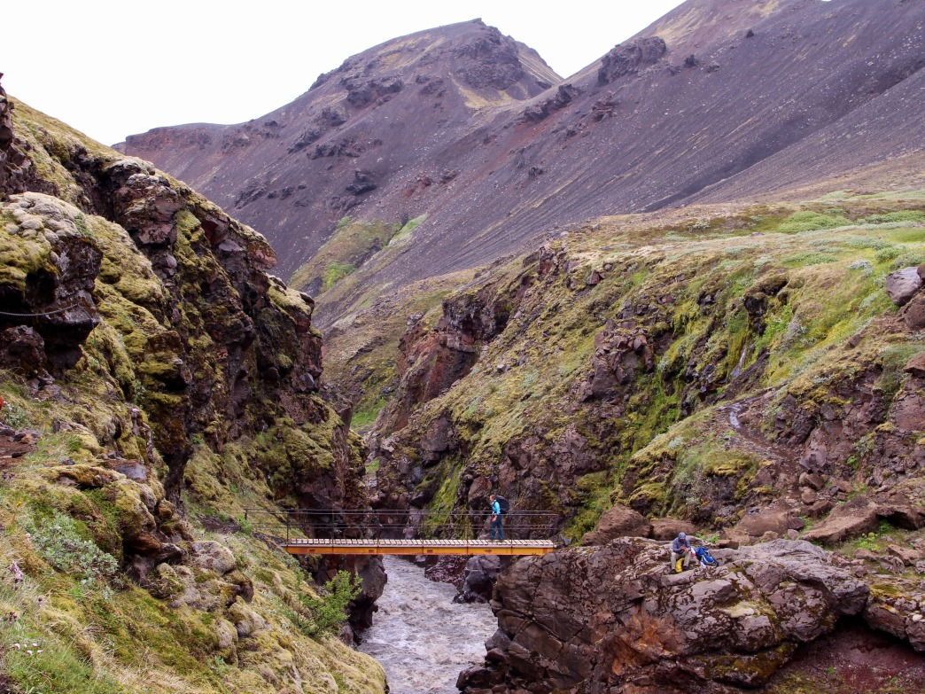 River canyon crossings along the Laugavegur Trail.     Matt Guenther
