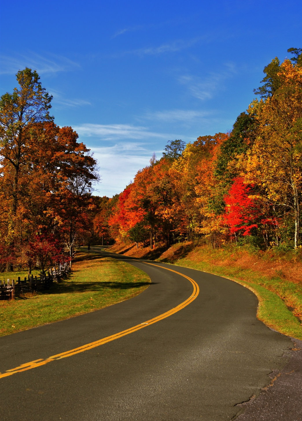 The Blue Ridge Parkway is one of the country's most scenic fall drives.