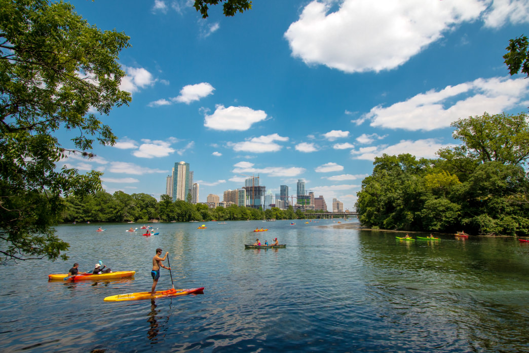 Kayak on Lady Bird Lake for a different view of Austin.