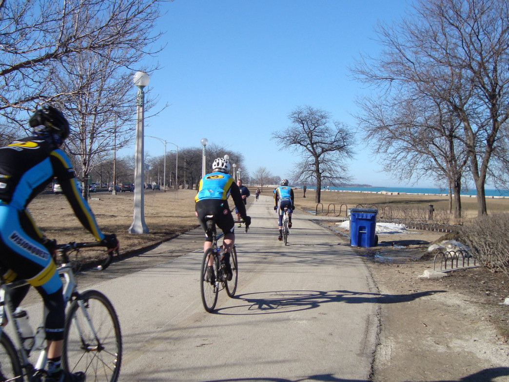 Chicago Lakefront Path Cycling on